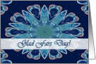 Norwegian Father's Day, Blue Hearts Mandala card