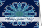 Happy Father's Day for Estranged Father, Blue Hearts Mandala card