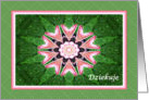 Polish Thank you, Pink Hearts Mandala and Green card