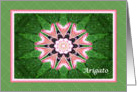 Japanese Thank you, Pink Hearts Mandala and Green card