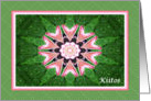 Finnish Thank you, Pink Hearts Mandala and Green card