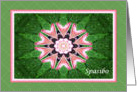 Russian Thank you, Pink Hearts Mandala and Green card