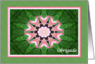 Portuguese Obrigado, Pink Hearts Mandala and Green card