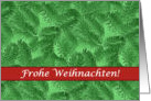 German Christmas, Green Spruce and Red card