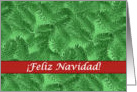 Spanish Christmas, Green Spruce and Red card