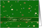 Happy Holidays, Gold Stars and Green card