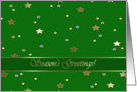 Season's Greetings, Gold Stars and Green card