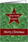 Christmas Double Cousin Red Star Green Spruce card