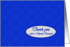 Thank You for Principal, Blue and Aqua Polka Dots card
