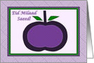 Arabic Birthday, Purple Apple Collage card