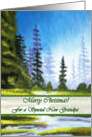 Christmas for New Grandpa, Spruce Forest Painting card