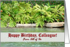 Birthday for Colleague, Lush Vegetation around the Pond card