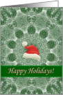Happy Holidays and Prosperous New Year, Santa Hat on a Spruce Mandala card