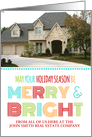Photo Merry & Bright Realty Christmas Card - Colorful Modern card