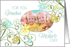 Happy Mother's Day for Grandma Photo Card - Garden Flowers card