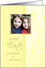 Happy Easter for Grandparents Photo Card - Pastel Yellow card
