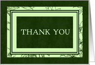 Green thank you parents Card