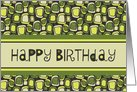 Business from All of Us Happy Birthday Card - Green Retro card