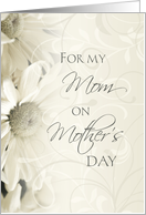 Happy Mother's Day for Mom from Daughter - White Floral card