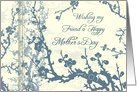 Happy Mother's Day for Friend - Blue Floral card