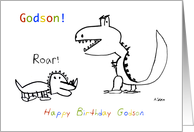 Happy Birthday, Greatest Godson of them All card