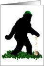 Lucky St Patrick's Day Sasquatch card