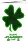 Lucky Shamrock card
