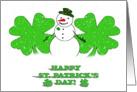 Lucky Snowman card