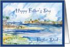 Pine Island Beach Florida Father's Day Foster Dad card