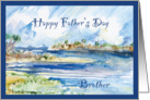 Pine Island Beach Florida Father's Day Brother card