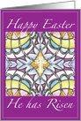 Op Art Happy Easter He has Risen card