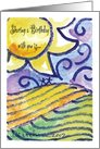 Sharing a Birthday with You Landscape card