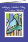Tangled Landscape Happy Step Father's Day card