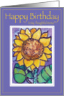 Sunflower Happy Birthday Thoughtful Mentor card