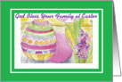 God Bless your Family at Easter for Neighbor card
