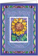 Yvette Sprout and Sunflower A Happy Birthday Wish card