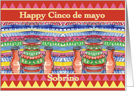 Sobrino Happy Cinco de mayo Pots card