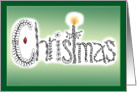 Christmas Art Doodle Zentangle Design with Candle card