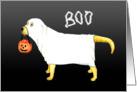 Halloween Yellow Labrador Ghost Dog card