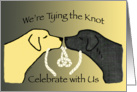 Wedding Invitation Black and Yellow Lab Dogs card
