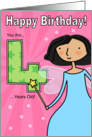 Birthday Fairy - Four Years Old card