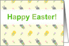 Happy Easter - Spring Chicks and Bunny Rabbits card