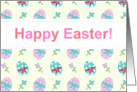 Happy Easter - Spring Flowers and decorated eggs card