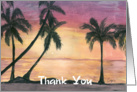 Tropical Sunset - Thank You - Hospitality card