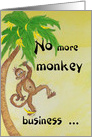 Monkey Business - Get Well card