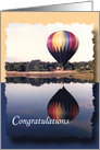 Congratulations Graduation Hot Air Balloon card