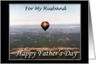 Balloon over R.I. - Happy Father's Day to my Husband card