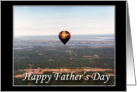 Hot Air Balloon Father's Day wishes- General card