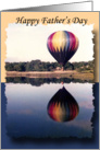 Hot Air Balloon Reflection Father's Day wishes card