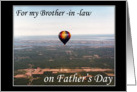 Hot Air Balloon Father's Day wishes -For my Brother-in-Law card